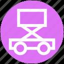 .svg, car jack, car lift, construction, garage, lifting jack, trolley jack icon