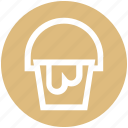 .svg, bucket, construction, pail, paint bucket, wall painting icon
