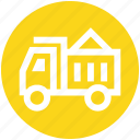 3, construction, heavy machine, heavy vehicle, loading, transport, truck icon