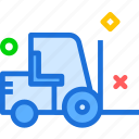 building, emptylift, er, heavy, materials, transport, truck icon