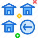 building, home, house, left icon