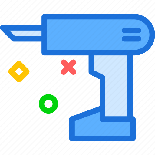 automated, drill, instruments, mechanic, nails, tool, work icon