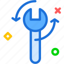 key, mechanic, rotate, tool icon