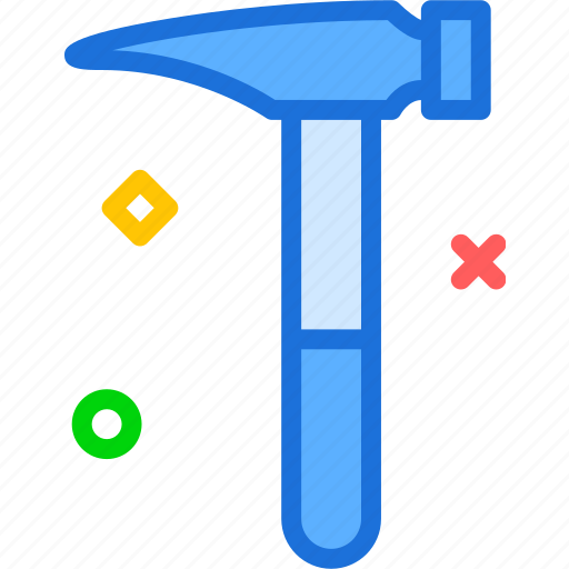 hammer, manualfornails, nails, tool, work icon