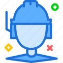 coordinator, helmet, man, site, worker icon