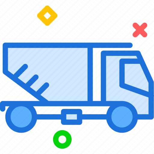 build, car, empty, heavy, materials, transport, truck icon
