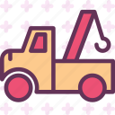 building, hook, machine, transport, truck icon