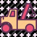 building, hook, machine, truck, transport