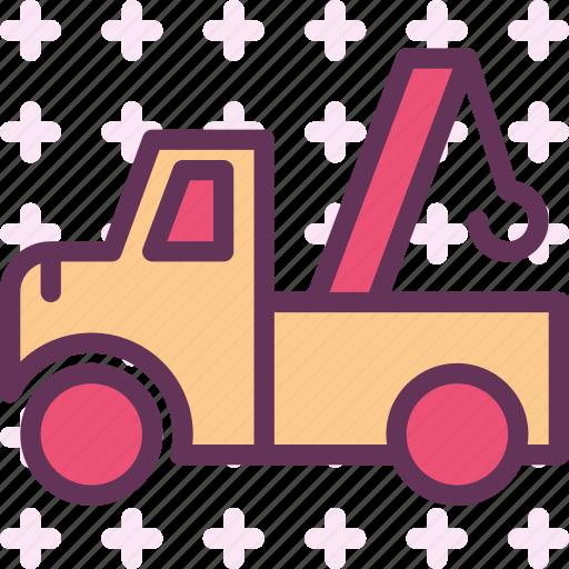 building, hook, machine, transport, truck icon
