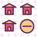 building, home, house, sremove icon
