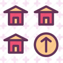 building, home, house, up icon