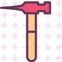 instruments, manual, nailhammer, nails, tool, work icon