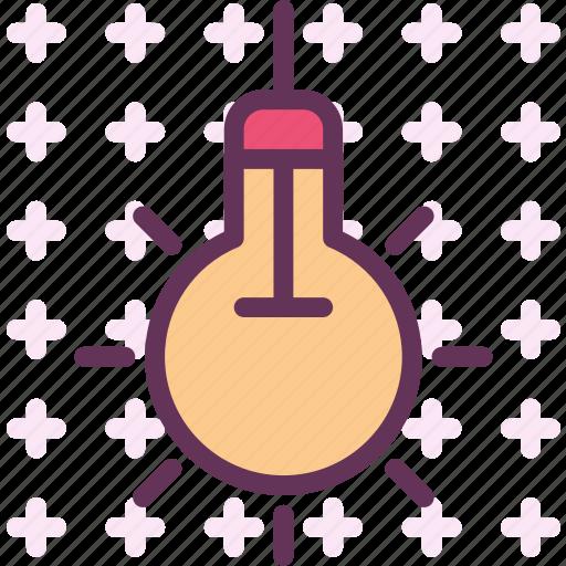 electric, light, lightbulb icon