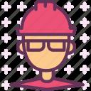 engineer, helmet, contruction, site, man