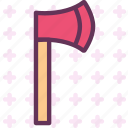 axe, finish, manualtool, tool, wood icon