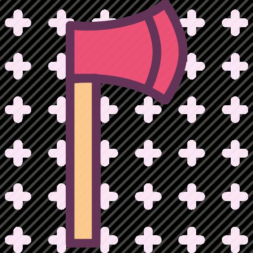 axe, finish, manualtool, tool, wood icon