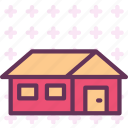 building, garage, home, house icon