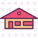 building, farm, home, house icon