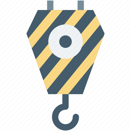 container lifter, crane lifter, harbor pulley, lifting pulley, weight holder icon