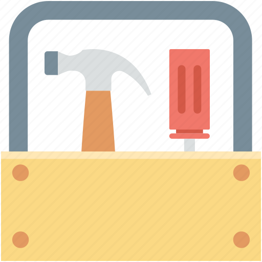 hammer, hardware tools, screwdriver, spanner, work tools icon