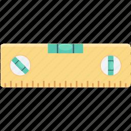 builder instrument, builder ruler, building leveler, construction tool, level gauge icon