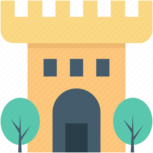building, castle, castle tower, fortress, medieval icon