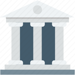 bank, building, court, courthouse, law court icon