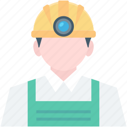 job, miner, miner avatar, occupation, worker icon