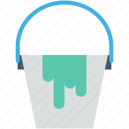 bucket, can, pail, paint bucket, paint container icon