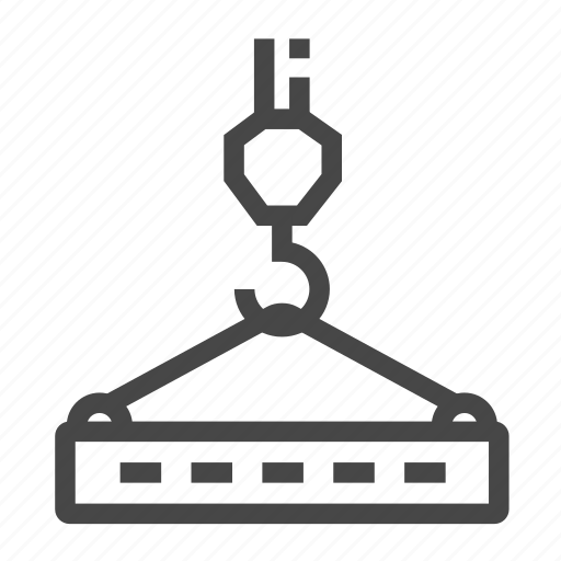 crane, hook, tower icon