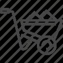 construction, wheelbarrow icon