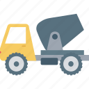 concrete vehicle, power buggy, construction vehicle, concrete buggy, transport icon