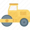 bulldozer, construction machinery, excavator, heavy equipment, heavy machinery icon