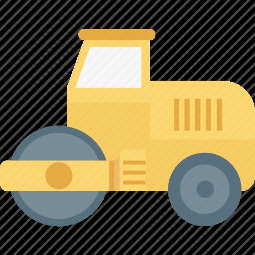 bulldozer, construction machinery, excavator, heavy equipment, heavy machinery icon