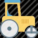 concrete bulldozer, crane, lifter, road bulldozer, road plain, road plain bulldozer icon