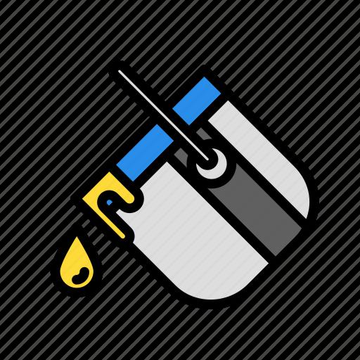 bucket, build, fabric, site, work icon