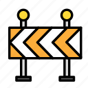 build, delay, fabric, site, work icon