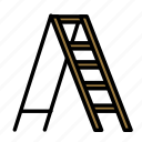 build, fabric, ladder, site, work icon