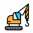 build, fabric, machine, site, work icon