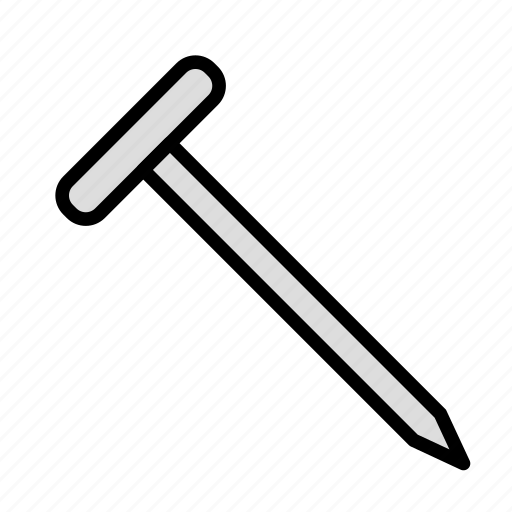 build, fabric, nail, site, work icon