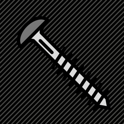 build, fabric, screw, site, work icon