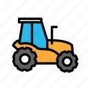 build, fabric, site, tractor, work icon
