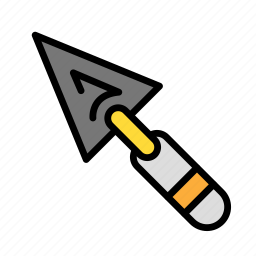 build, fabric, site, trowel, work icon