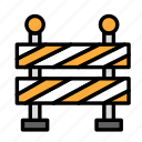 build, fabric, sign, site, warning, work icon