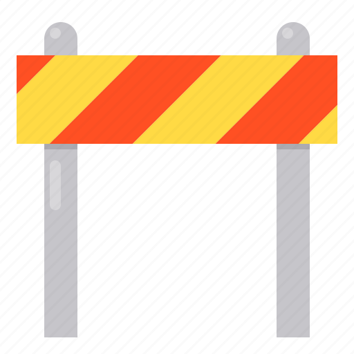 barrier, blocked, construction, safety icon