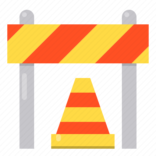 Barrier, blocked, construction, safety icon - Download on Iconfinder