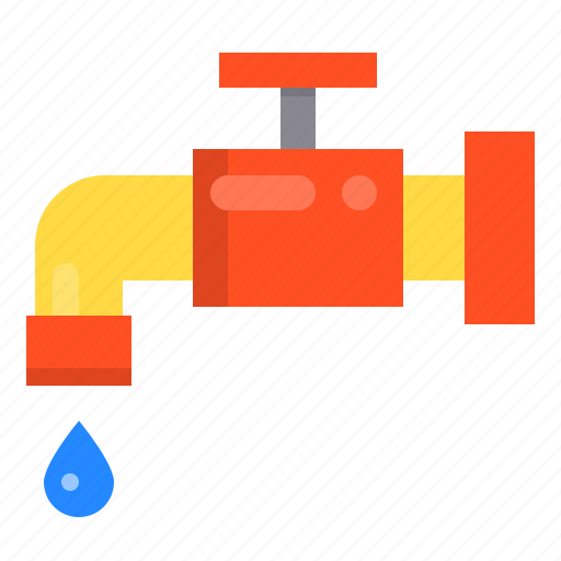 construction, dropled, faucet, repair icon