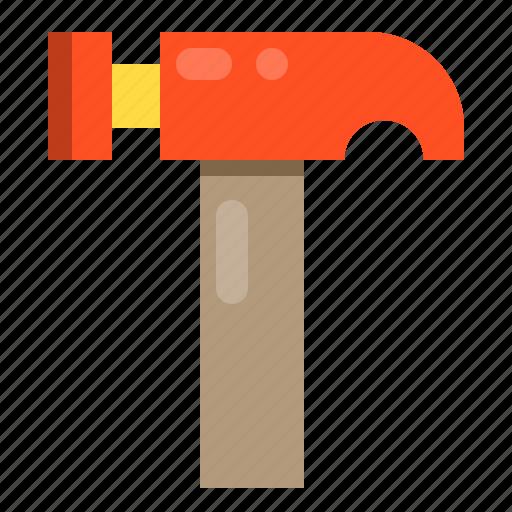 construction, hammer, repair, tool icon