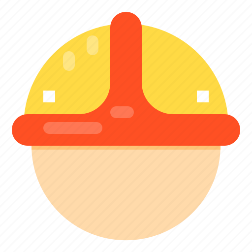 construction, head, protection, safety, tool icon