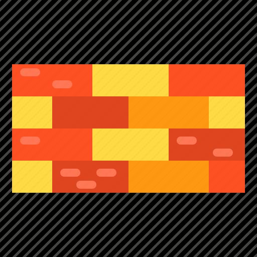 block, brick, construction, wall icon
